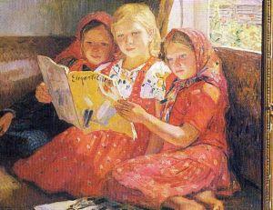 Lesende Mädchen